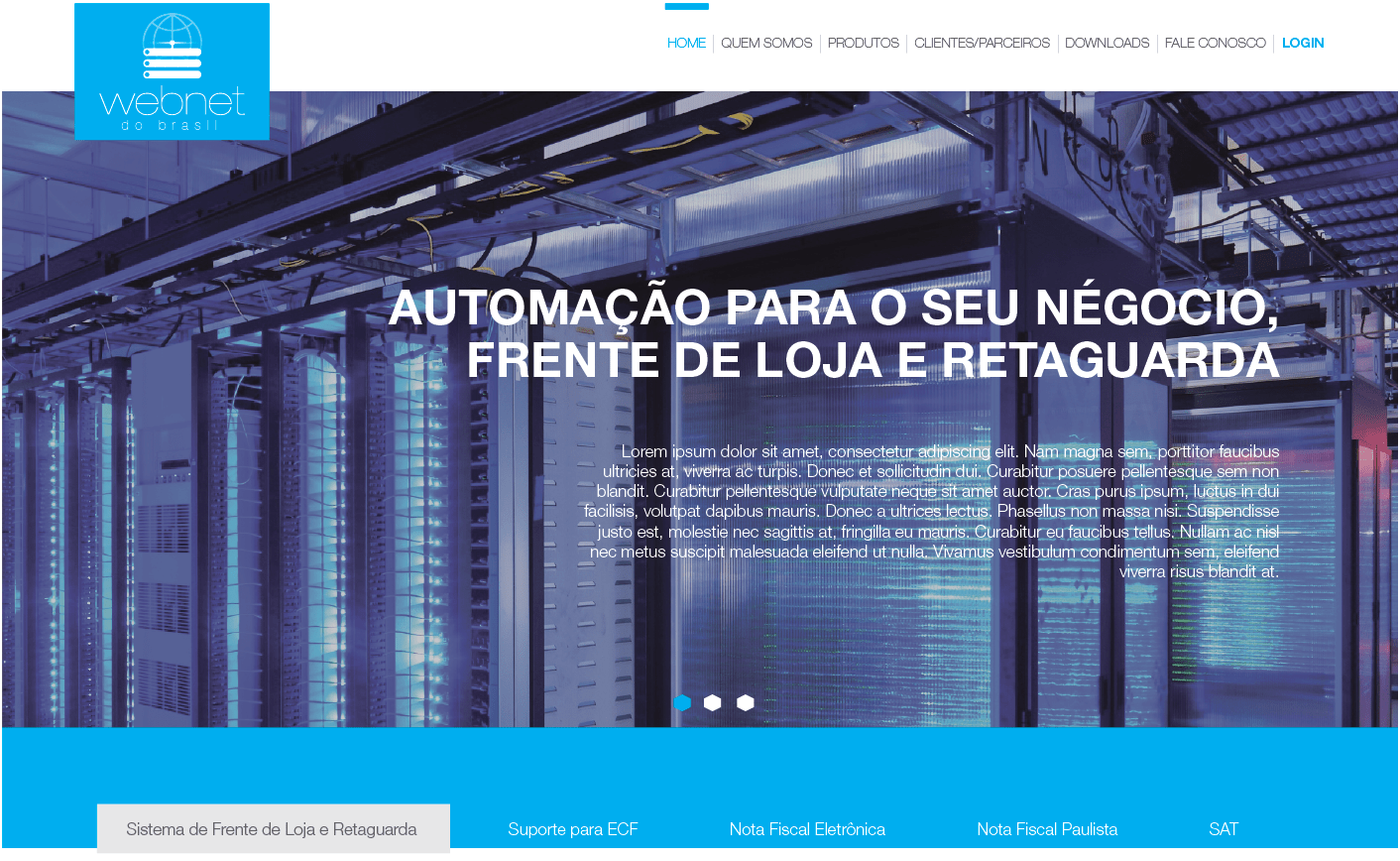 Site Webnet do Brasil - Widesigner