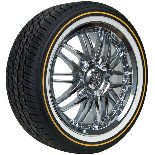 Wide Wall White 1 Inch Tires