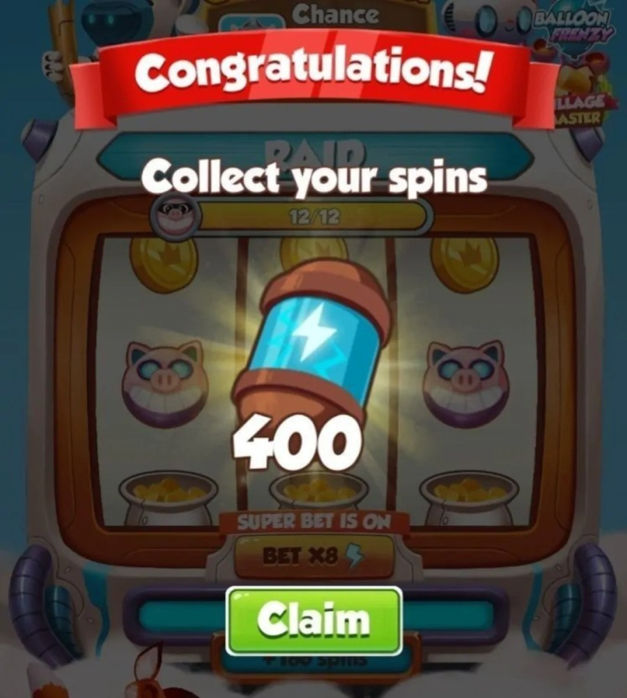 Get Coin Master 400 Spin Links | Get Free Spins 2020 ...