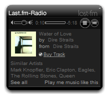 Last.fm Radio Screenshot