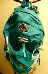 My new day pack, hanging at the ready.