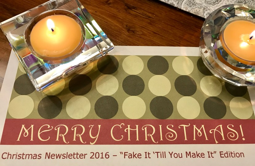 Christmas Newsletter created, for the 3rd year running.