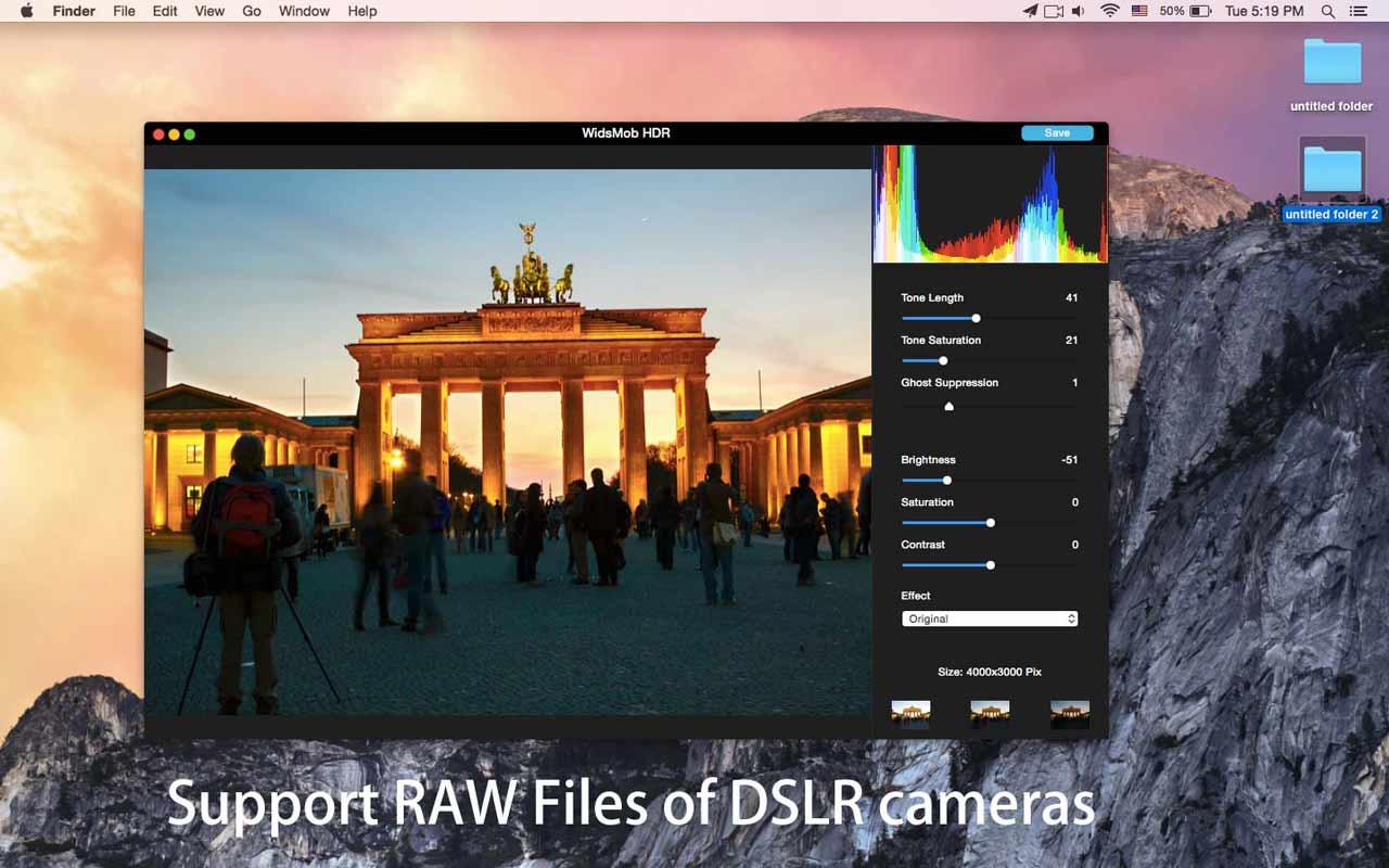 WidsMob HDR Plus 2.13 Mac 破解版 - HDR照片编辑器