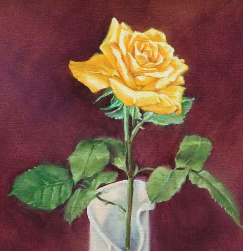 Rosen malenBlten realistisch malen mit lfarben