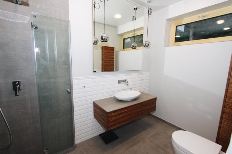 Badezimmer Grau Holz Konzept