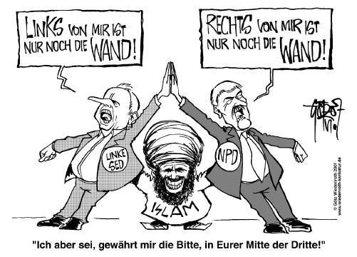 Rechts und links - der Islam bringt sie zusammen