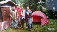 Mit Familie im Zelt am Putterer See