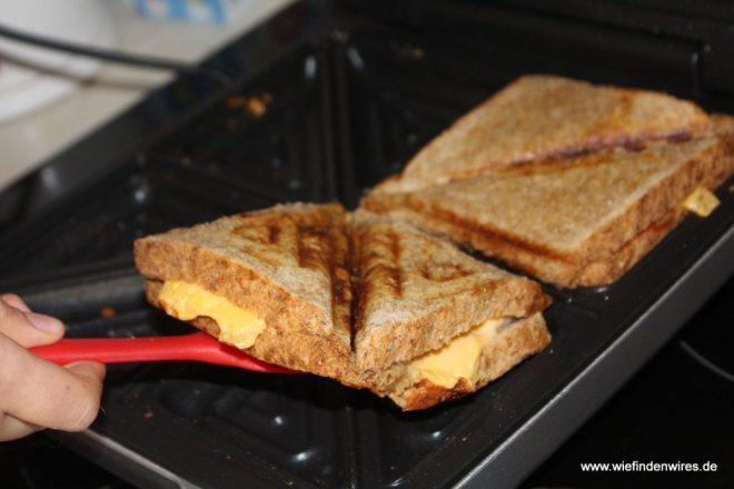 Cloer 6269 Sandwichmaker 4er XXL grau