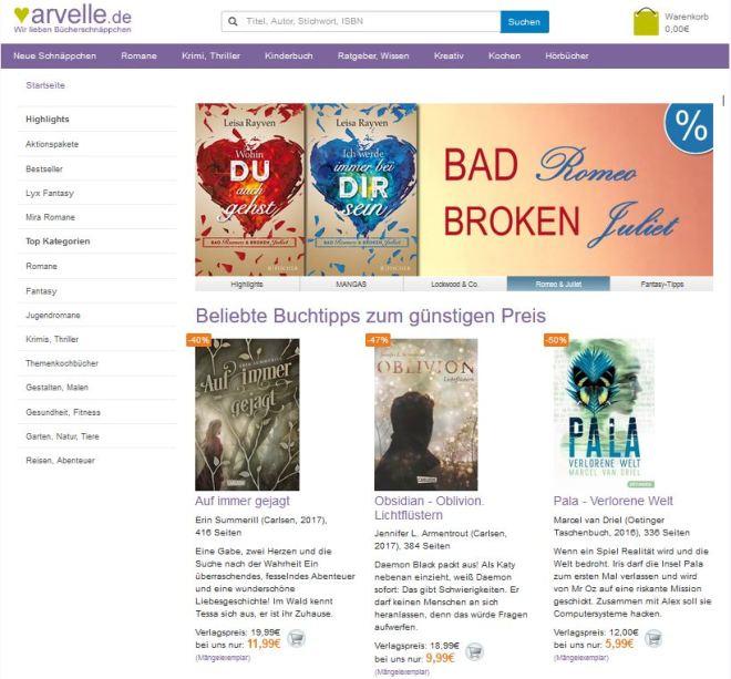 Bücher günstig kaufen bei arvelle.de