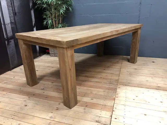 perfect rada solid teak wood dining table extra thick legs