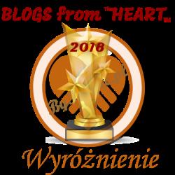 Blogs from heart - Wyróżnienie 2018