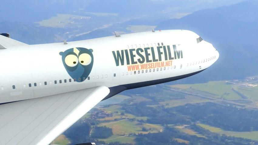 Wieselfilm Flugzeug