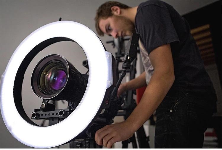 Vlog Kamera mit Ringlicht