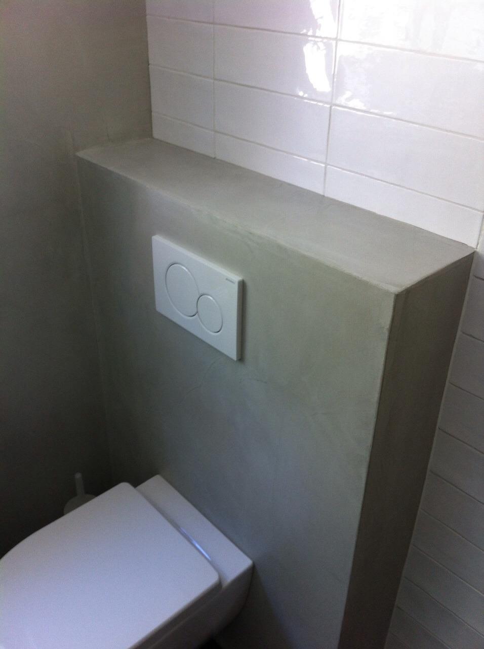 Beton cire badkamer met zitje in douche Leersum