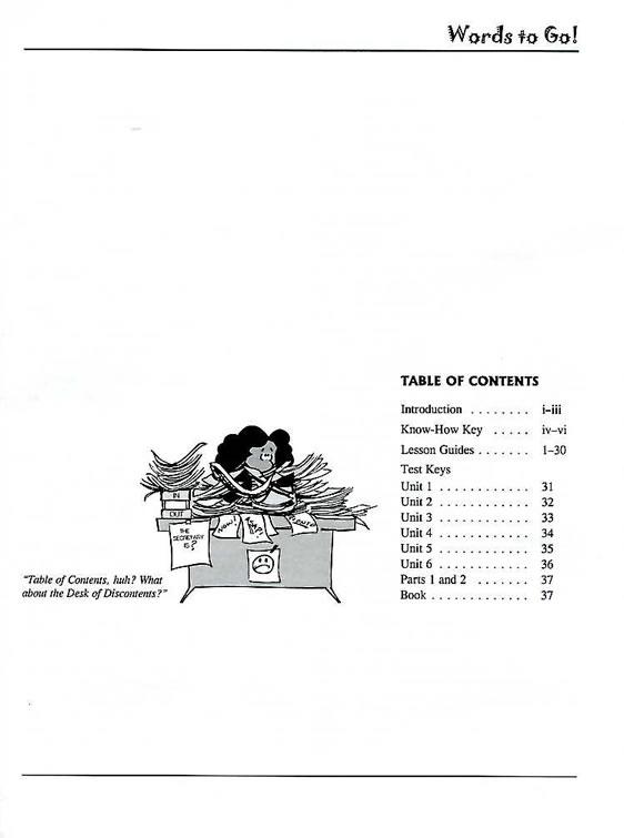 Words to Go! Grade 8 (Book H) Teacher's Guide