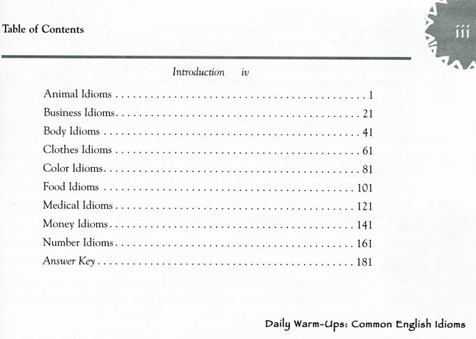 Daily Warm-Ups Common English Idioms (Grades 5-8)