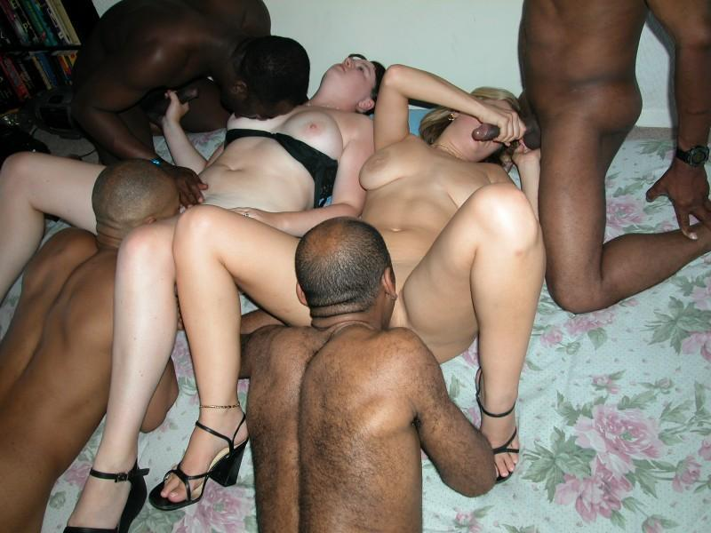 Monster White Dick Orgy