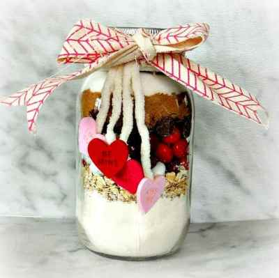 M&M's® Red Velvet valentine's cookie jar | wifeinprogressblog.com #shop #cbias