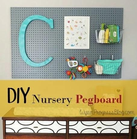 DIY Nursery Pegboard