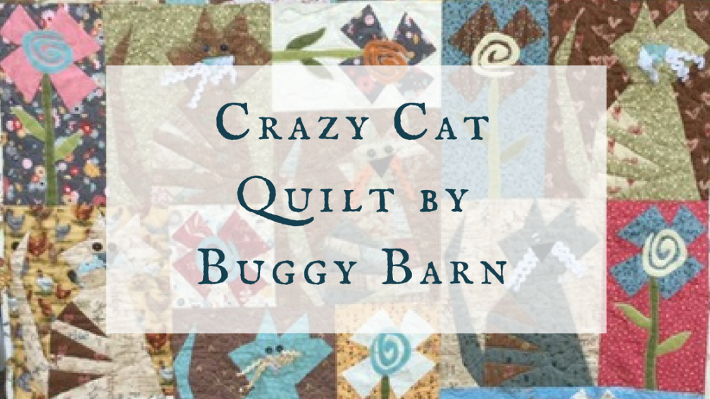 Crazy Cat Quilt by Buggy Barn