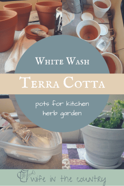 White washing terra cotta pots