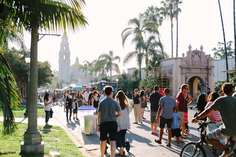 food truck friday at Balboa Park