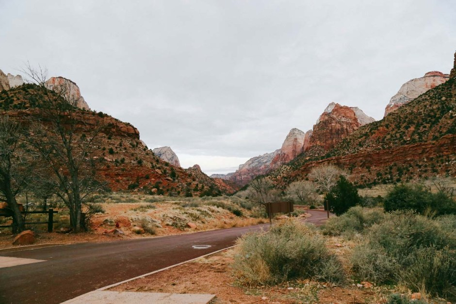 Zion National Park in December