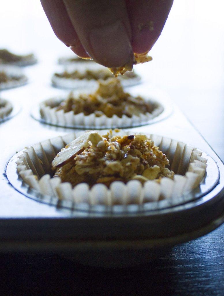 Glazed Pumpkin Crumb Muffins {Gluten-Free, Dairy-Free, Egg-Free}