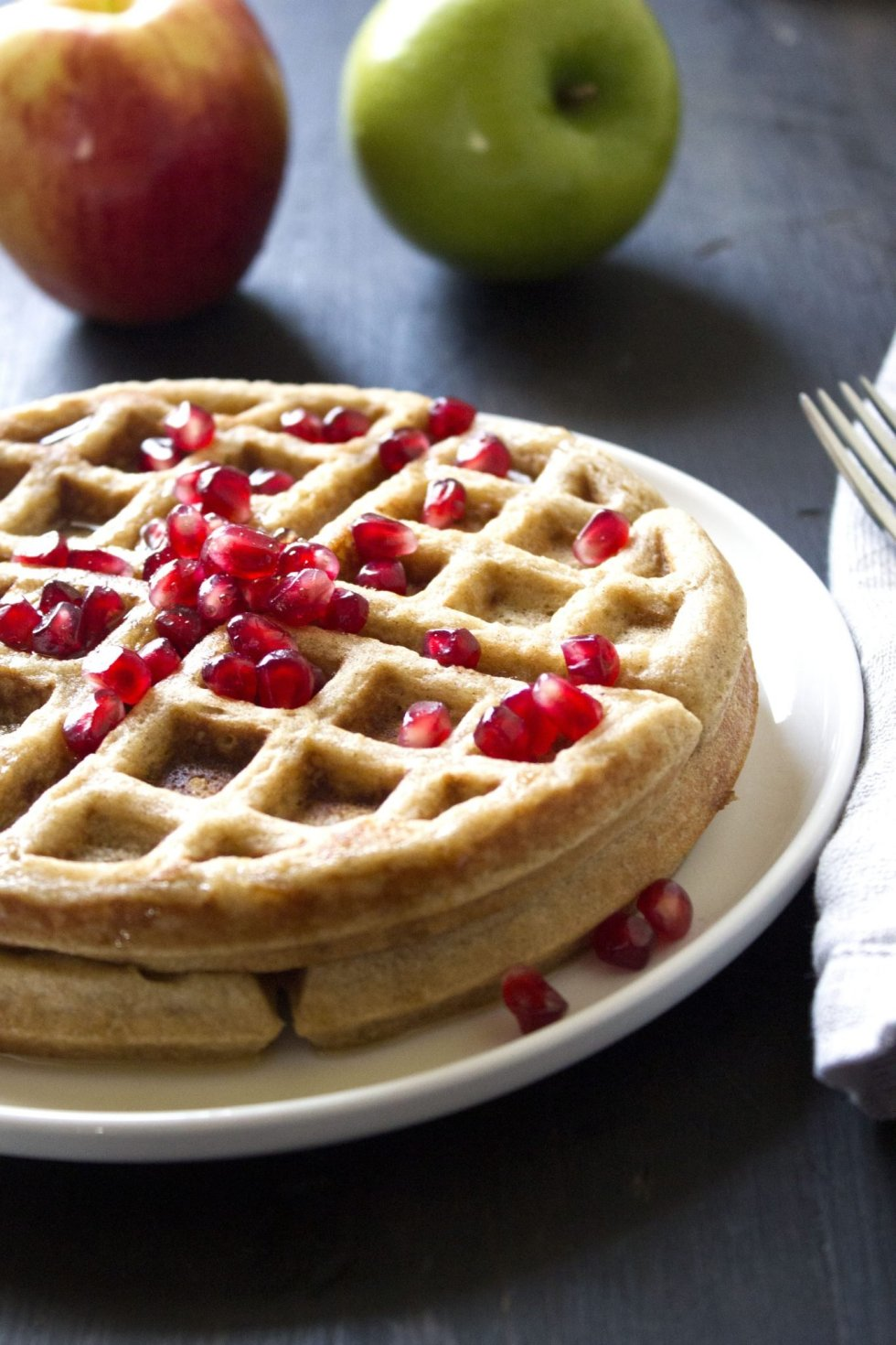 Apple-Cinnamon Waffles | Wife Mama Foodie