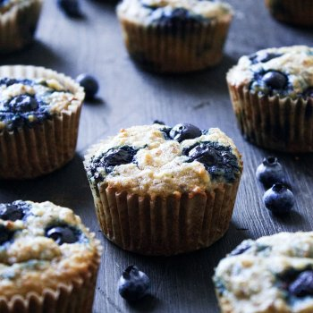 Paleo Banana-Blueberry Muffins
