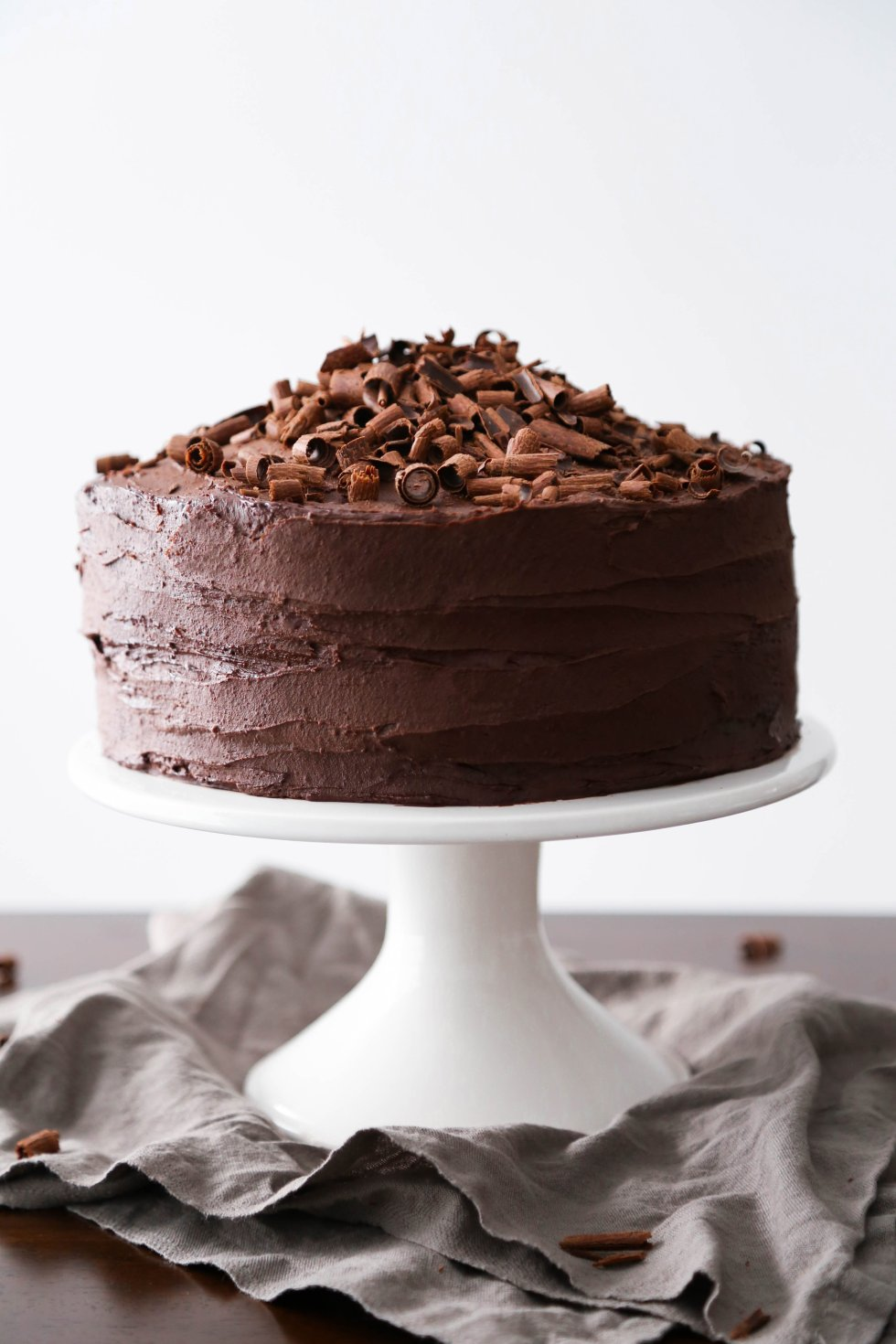 Vegan Chocolate Cake with Whipped Ganache | Gluten and Refined Sugar Free