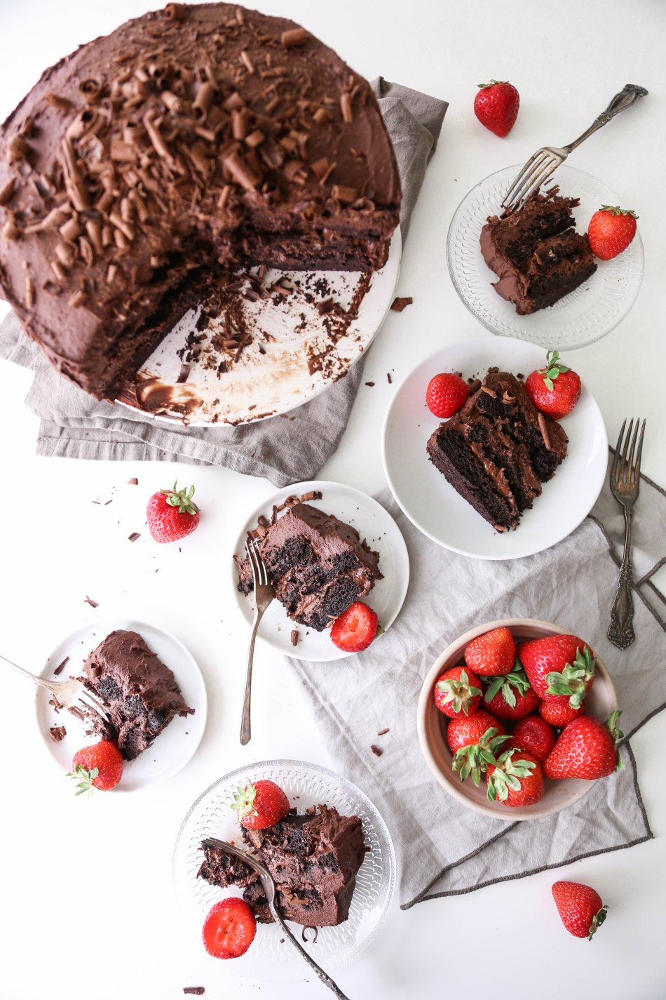 Vegan Chocolate Cake with Whipped Ganache | Vegan and Gluten-Free | Wife Mama Foodie
