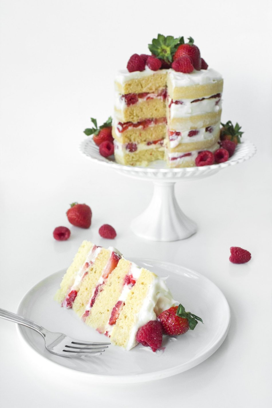 http://www.wifemamafoodie.com/white-chocolate-summer-berry-cake/