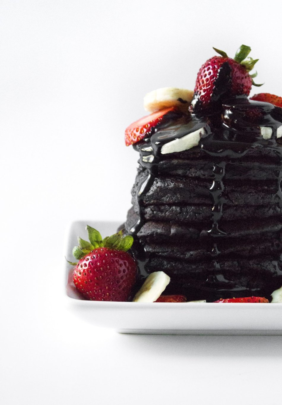 Chocolate Zucchini Pancakes | Gluten, dairy, & refined sugar free. Also vegan friendly.