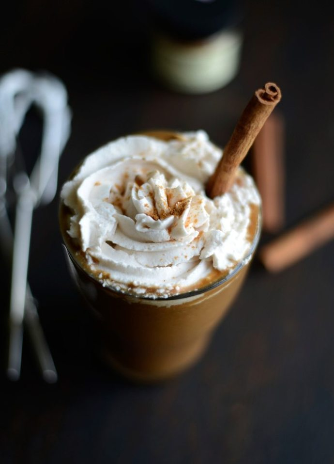 15 Must-Try Healthy Pumpkin Recipes To Celebrate Fall   Pumpkin Spice Frozen Latte from Fit Foodie Finds