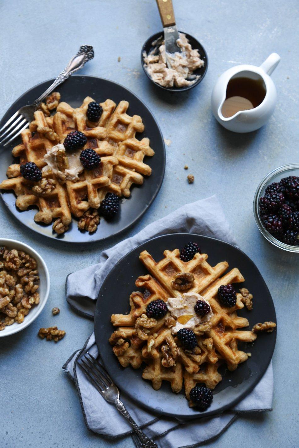 Sweet Potato Waffles | Vegan friendly with gluten free option | Wife Mama Foodie