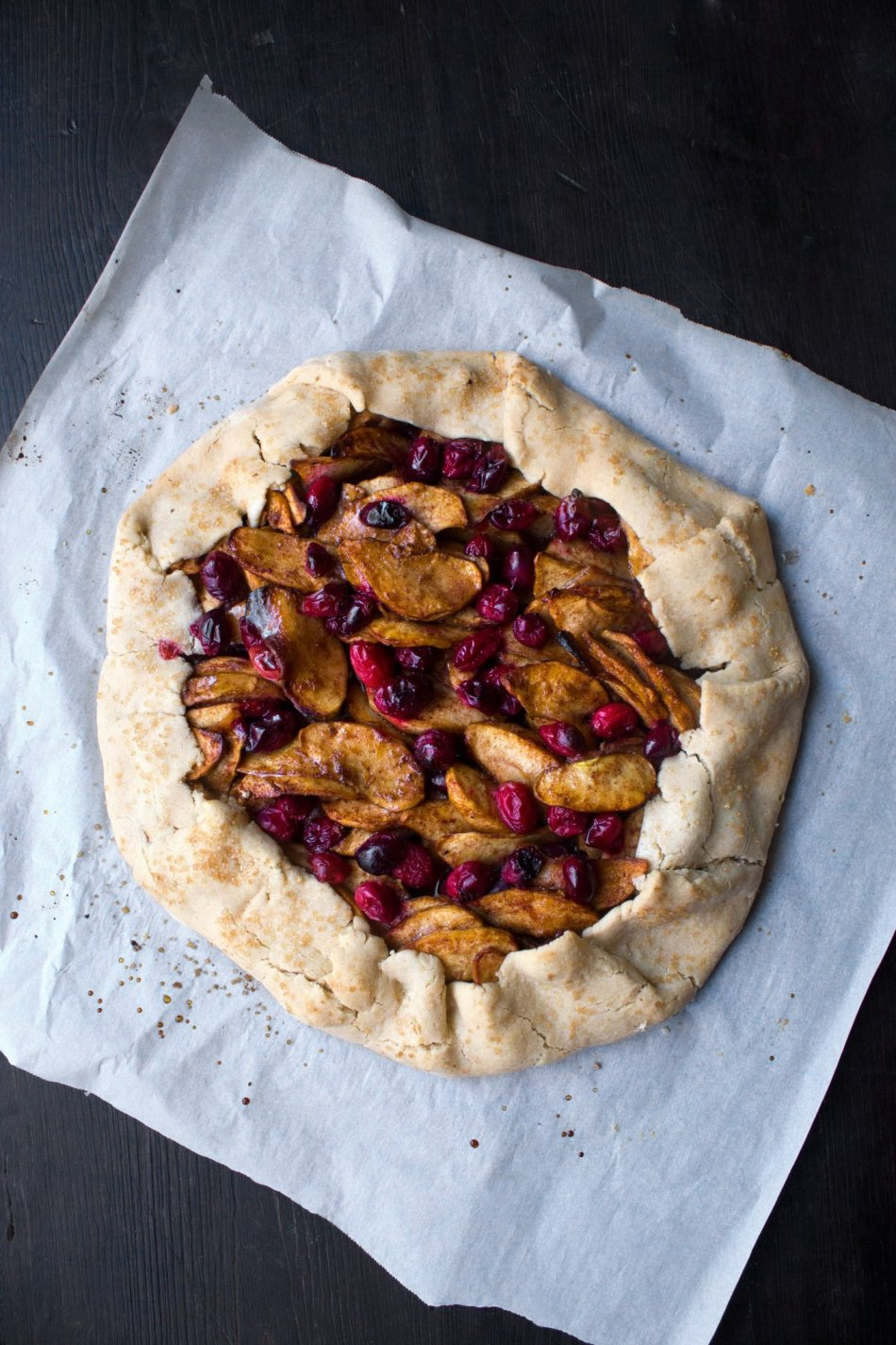 Apple Cranberry Galette | Wife Mama Foodie