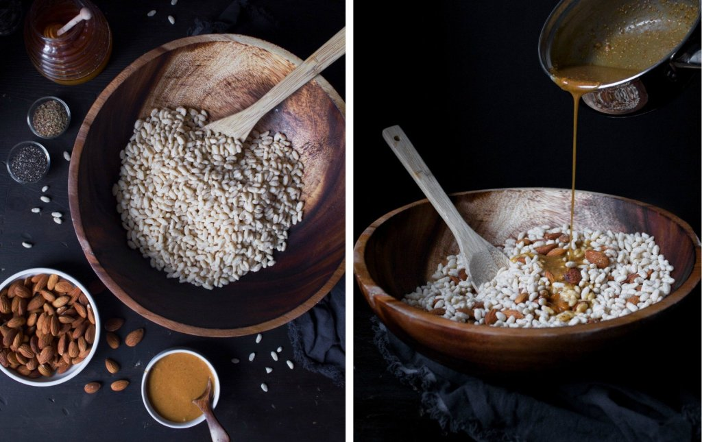 Crunchy Honey Peanut Butter & Dark Chocolate Bars   Gluten and Dairy Free