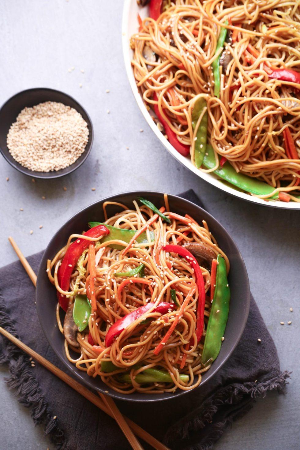 Teriyaki Veggie & Noodle Stir-Fry | Gluten, Dairy, and Egg Free