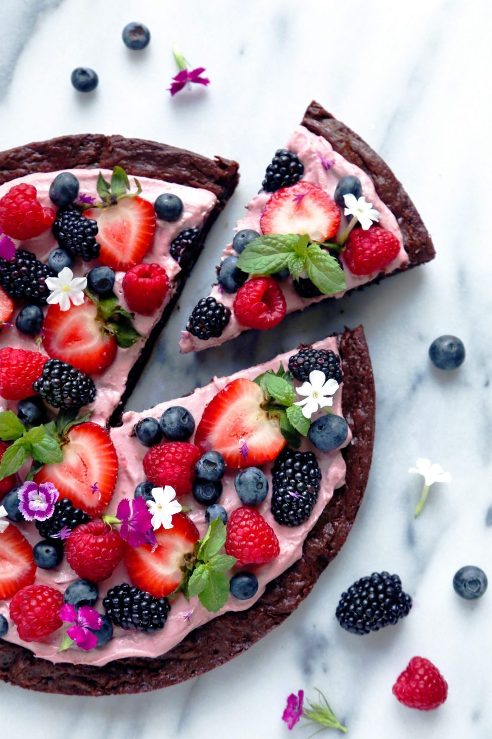 Very Berry Brownie Pizza | Gluten and Dairy Free | Wife Mama Foodie