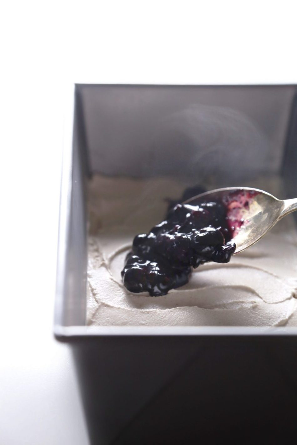 Vegan Blueberry Cheesecake Ice Cream | Free of dairy, gluten, grains, and refined sugar.