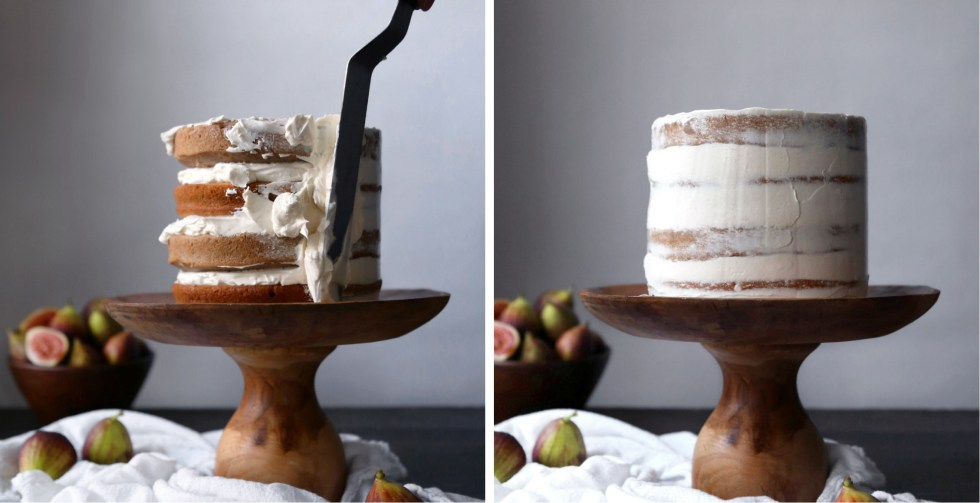 Chai Spiced Cake with Fresh Figs and Caramel | Free of gluten and refined sugar