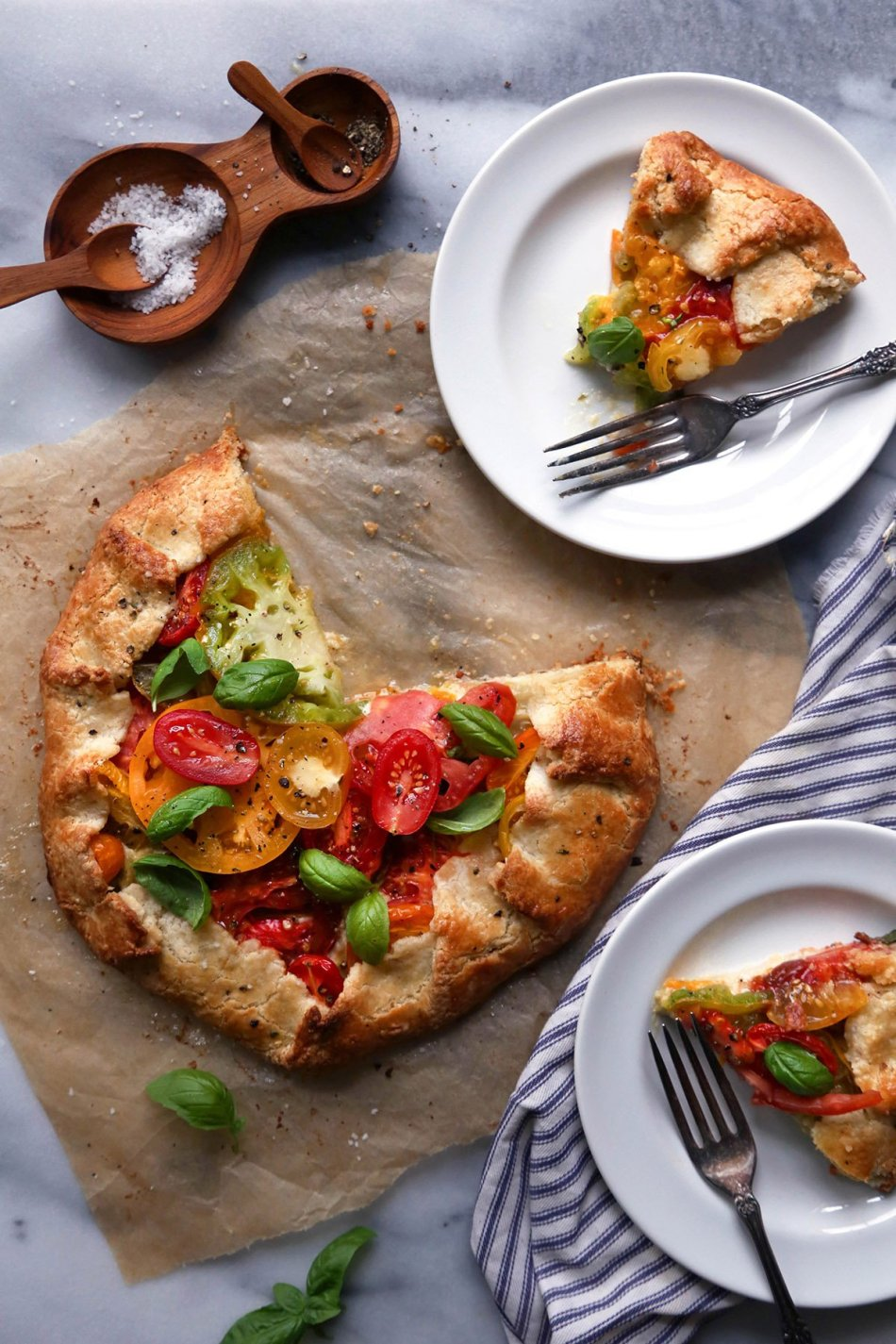 Grain-Free Heirloom Tomato Galette with Cashew Cream | Wife Mama Foodie
