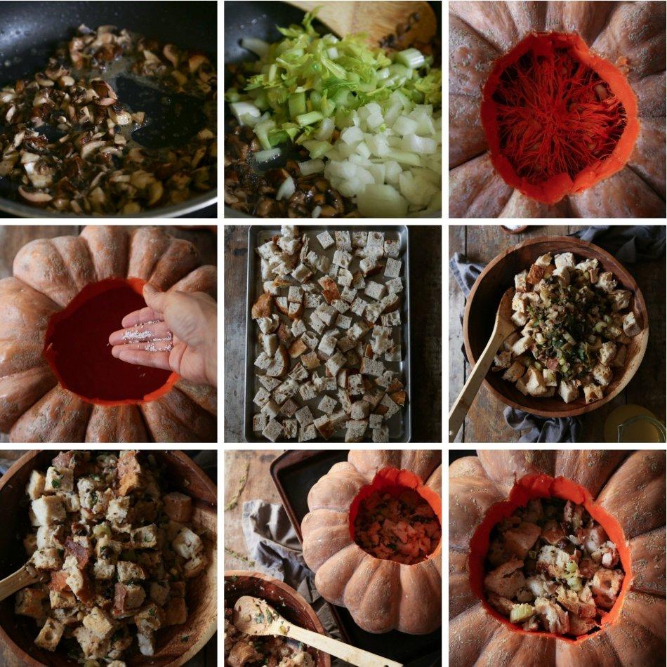 pumpkin-stuffing-collage