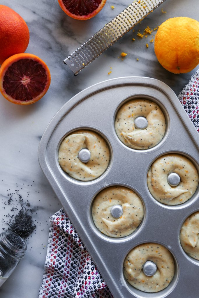 Blood Orange Poppy Seed Doughnuts   Vegan and gluten-free option included!