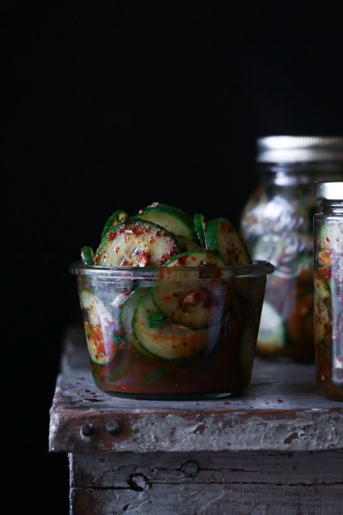 Spicy Korean Cucumber Salad | Vegan and paleo friendly