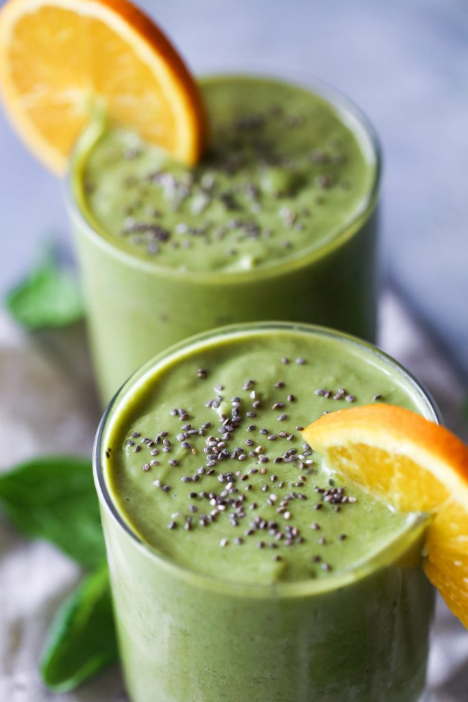 Green Vanilla Citrus Smoothie | Dairy-free and Vegan Friendly