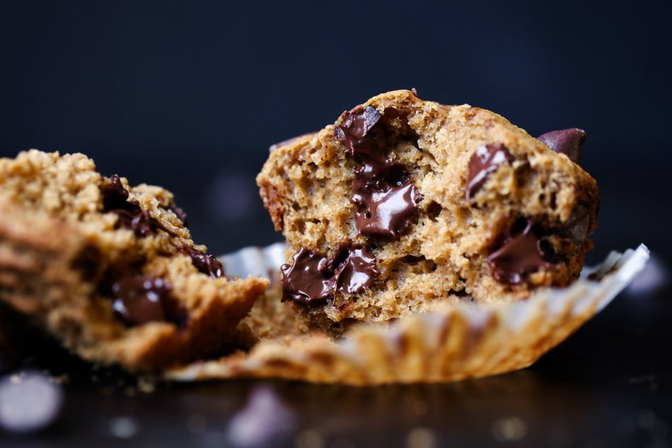 Vegan Chocolate Chip Muffins | Made with coconut sugar and free of gluten, grains, dairy, and eggs.