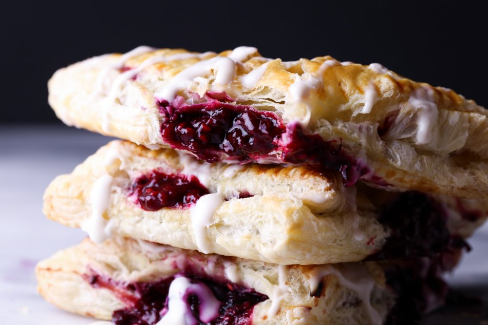 Easy Berry Turnovers | Free of dairy and refined sugar. Vegan friendly.