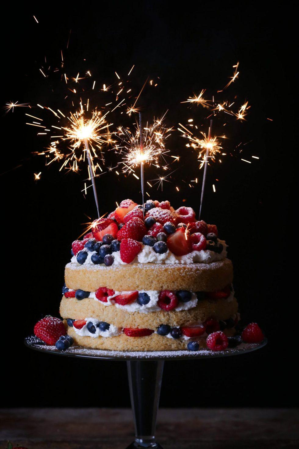 Vanilla Layer Cake with Fresh Berries | Vegan Friendly with Gluten-Free Option